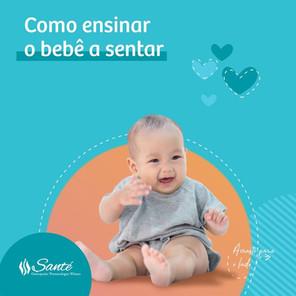 Como ensinar o bebê sentar