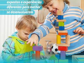 As crianças devem ser expostas a experiências diferentes para melhor se desenvolver