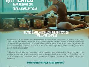 """Exercícios De Pilates """"Para Pessoas Que Trabalham Sentadas""""."""
