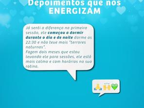 Depoimentos que nos ENERGIZAM