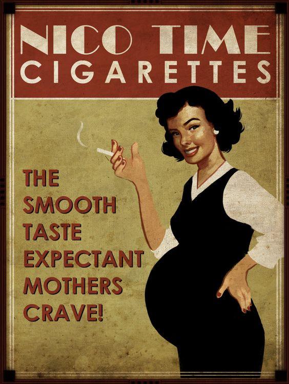 Advertentie sigaret voor zwangere vrouwen