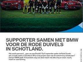 BMW, partner van de Rode Duivels
