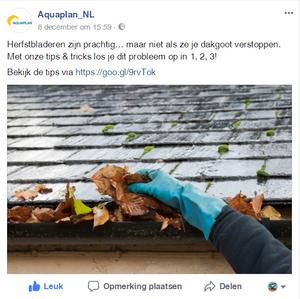 Copywriter Facebook Bericht Aquaplan