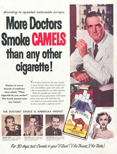Copywriting advertentie Camel sigaretten