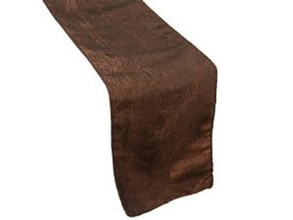 Table Runner- Crinkle Cut- Chocolate