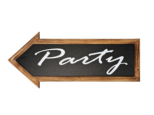 Arrow party sign