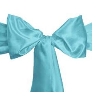 Chair Sash- Turquoise color