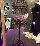 Vintage Brass Standing Bird Cage