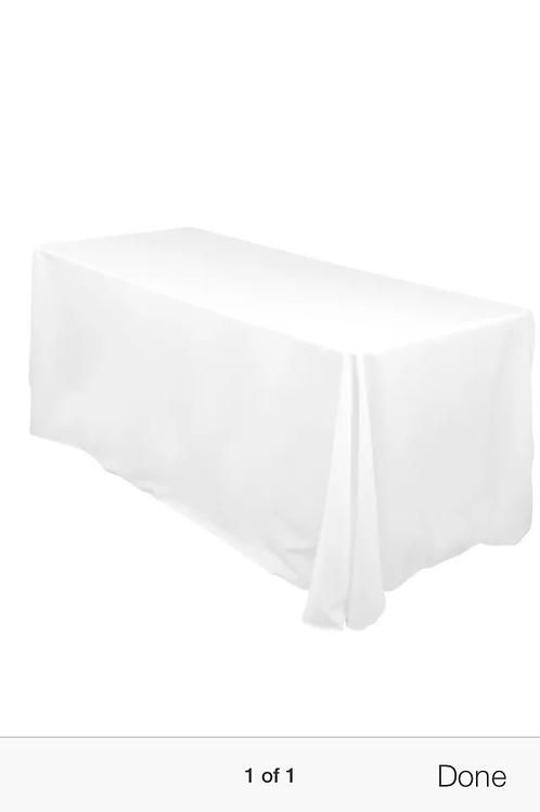 90 x 156-White Rectangular Table Linen