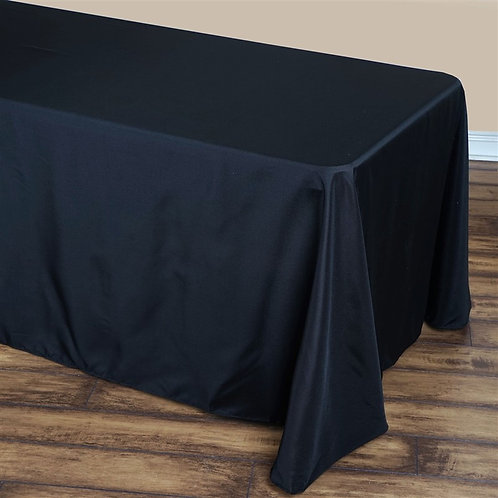 90x132 Black Rectangular Tablecloths