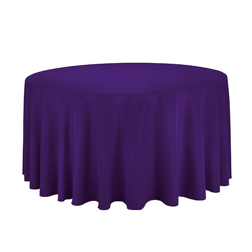 "120"" Purple Round Tablecloth"