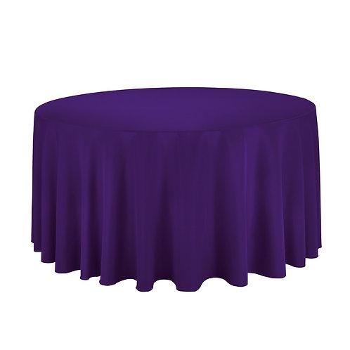"120"" Purple Round Tablecloth"