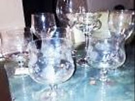 Economical 8 piece glass candy buffet containers