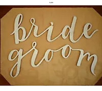 Bride and Groom Wooden Chair Signs