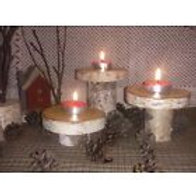 White Birch Bark Cupcake Stands