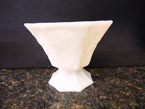 Assorted milk glass vases and plant holders