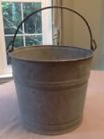 Rustic Galvanized Bucket