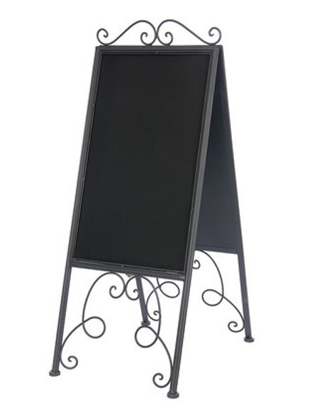 Metal Chalkboard Easel Sign