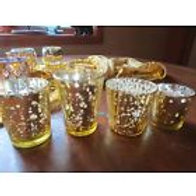 Silver and Gold Mercury Votive Holders