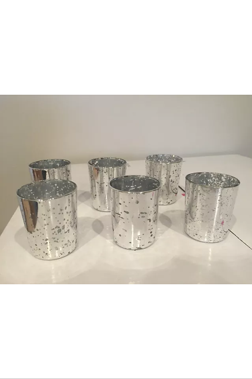 Silver Mercury Votive Holders