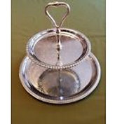 Silver Tiered Tray