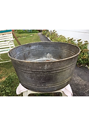 Large Galvanized Metal Tub