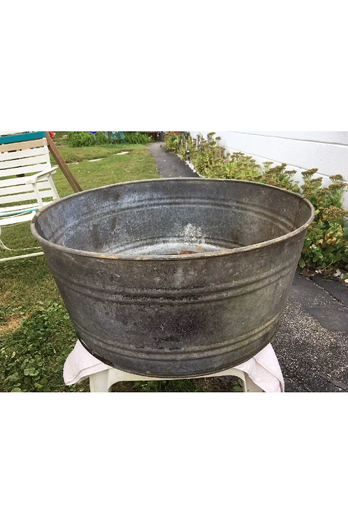 Large Galvanized Metal Tub