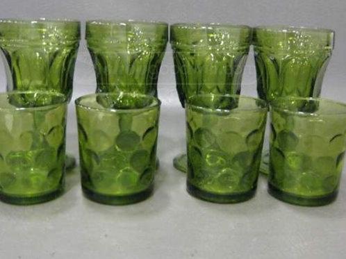 Vintage Green Glasses and Gobblets