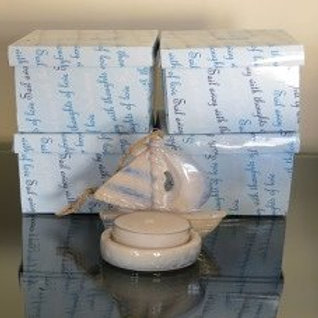 Sail Boat Candle Holder