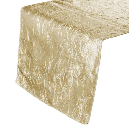 Champagne Crinkle Table Runners