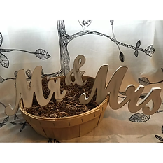 Mr. and Mrs. Freestanding Wooden Words