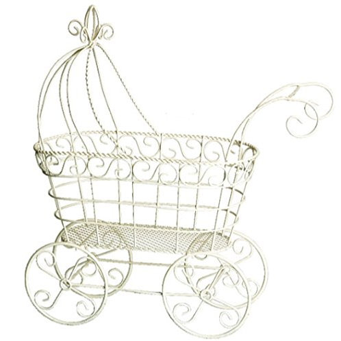White Baby Carriage Baby Shower decor