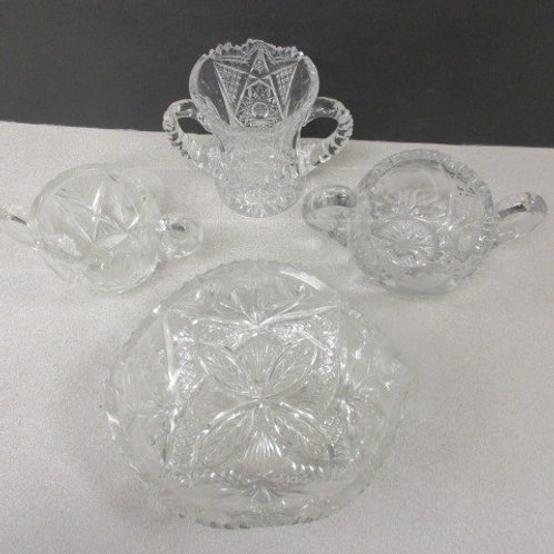 Vintage Cut Glass Small