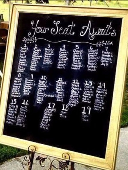 Large Gold Framed Chalkboard