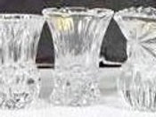 Crystal glass bud vases