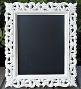 Detailed White Framed Chalkboard