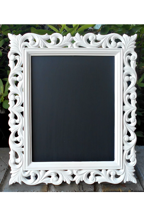 Detailed White Framed Chalkboard
