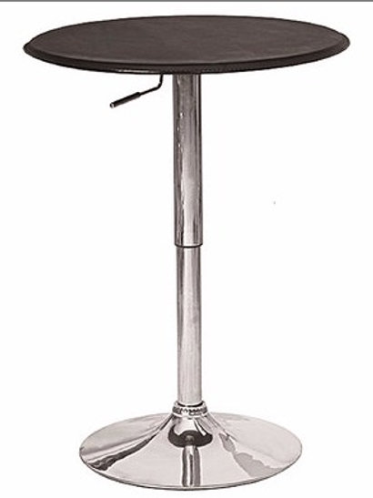 Black Circle Bar Table