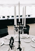 Tall Black Candelabras