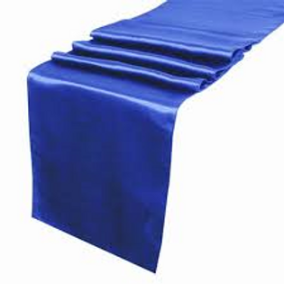 Satin Table Runners-Blue