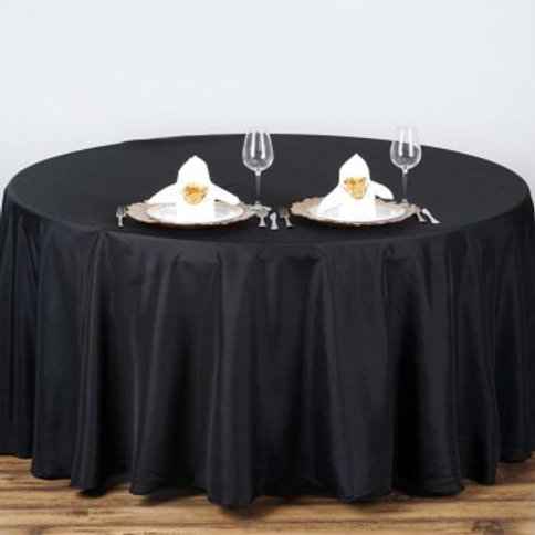 "108"" Black Round Tablecloths"