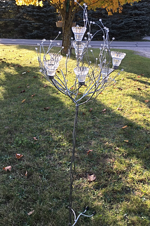 Crystal Metal Tree with Votive Holders