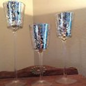 Mercury Glass Goblets/Votive Holders