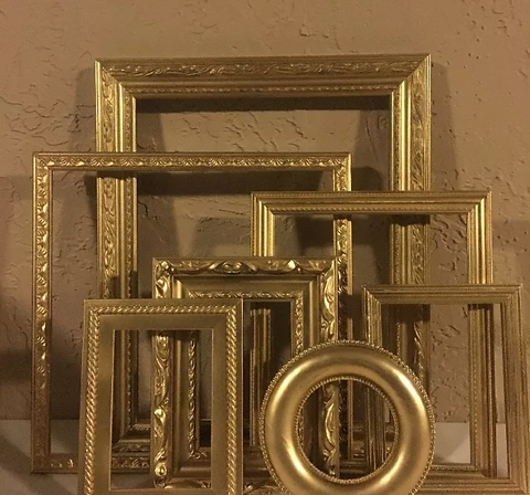 Assortment of Gold Frames