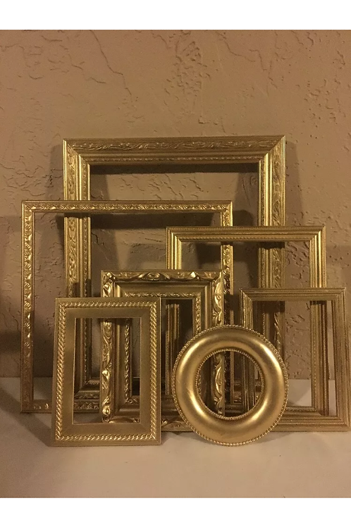 Assortment of Gold Frames
