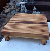 """Rustic Wedding cake stand 11"""" X 11"""" reclaimed wood Tray Plate Platter"""
