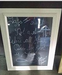 White Framed Sign