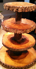 Four Tier Wood Cake, Cupcake Stand
