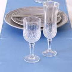 Periwinkle Satin Table Runner