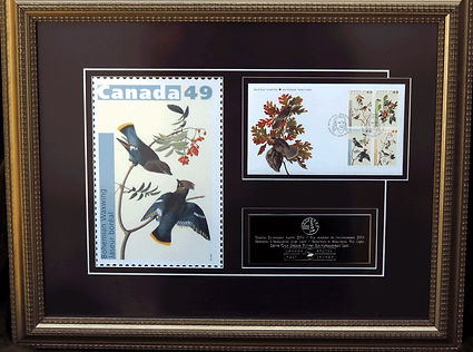 Plaque from Canada Post featuring a recent stamp series which commemorates the wildlife art of John James Audubon.